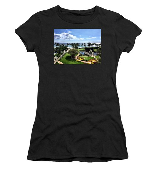 Church In Paradise Women's T-Shirt (Athletic Fit)