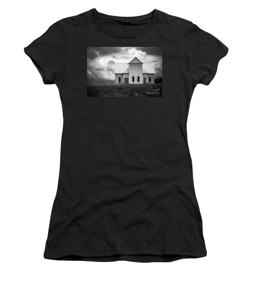 Church On Hill In Bw Women's T-Shirt