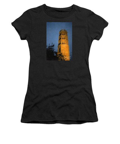 Women's T-Shirt (Junior Cut) featuring the photograph Church Steeple by Jean Bernard Roussilhe