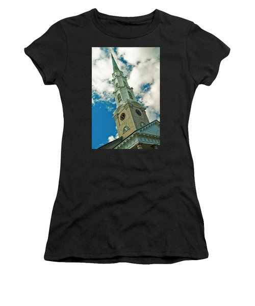 Churche Steeple Women's T-Shirt (Athletic Fit)