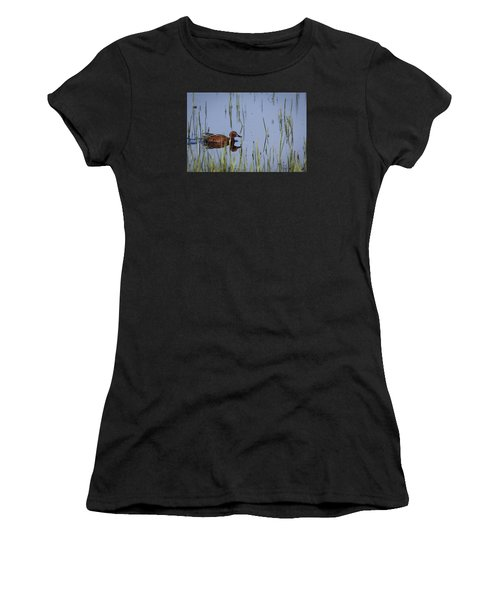 Cinnamon Teal Adult Male Women's T-Shirt