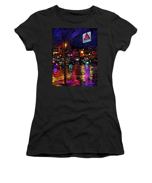 Citgo Sign, Boston Women's T-Shirt (Junior Cut) by DC Langer