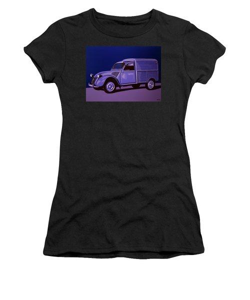 Citroen 2cv Azu 1957 Painting Women's T-Shirt