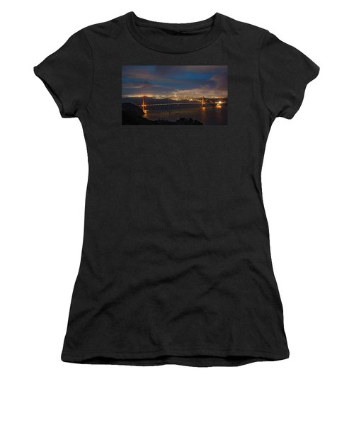 Women's T-Shirt featuring the photograph City And The Bridge by Stephen Holst