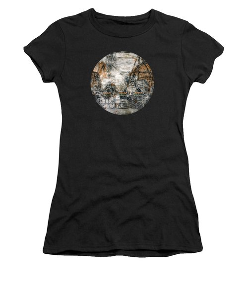 City-art Amsterdam Bicycles  Women's T-Shirt (Athletic Fit)