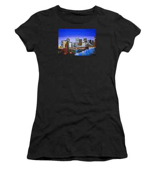 City At Twilight Women's T-Shirt (Athletic Fit)