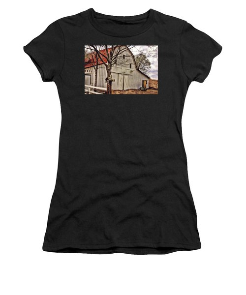Women's T-Shirt (Junior Cut) featuring the photograph City Barn by Joan Bertucci