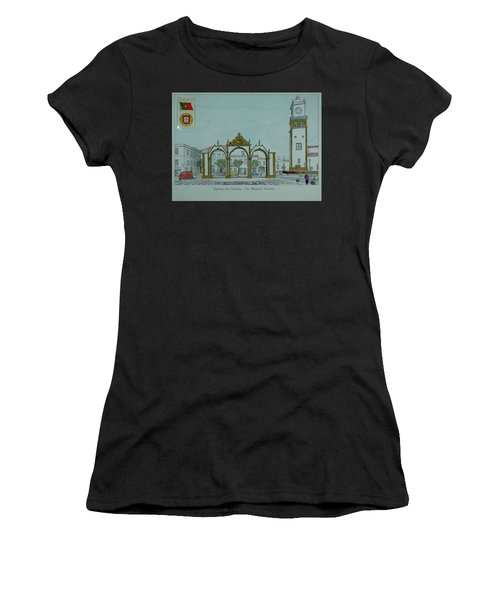 City Gates, San Miguel,azores Women's T-Shirt (Athletic Fit)