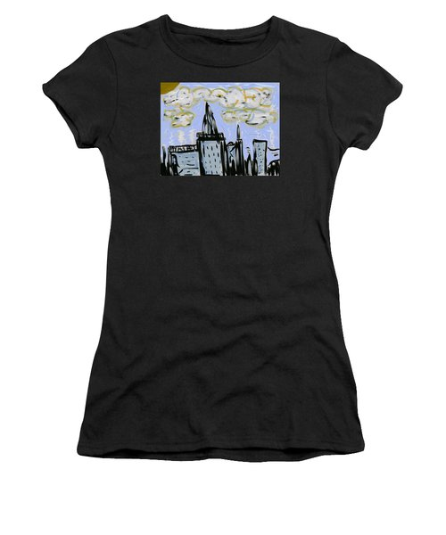 City In Blue Women's T-Shirt (Athletic Fit)