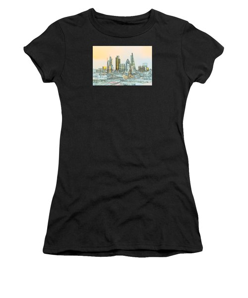 City Of London Outline Poster  Women's T-Shirt