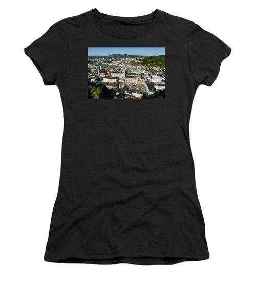 City Of Salzburg Women's T-Shirt (Junior Cut) by Silvia Bruno