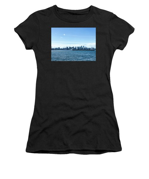 City Of Vancouver From The North Shore Women's T-Shirt (Athletic Fit)