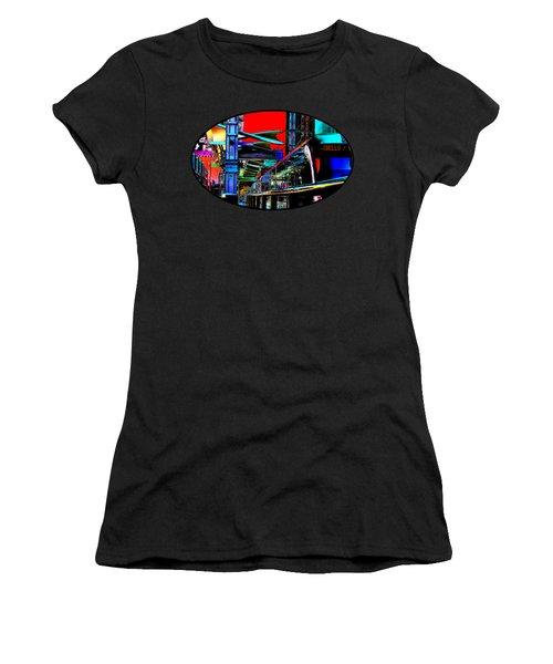 City Tansit Pop Art Women's T-Shirt (Athletic Fit)