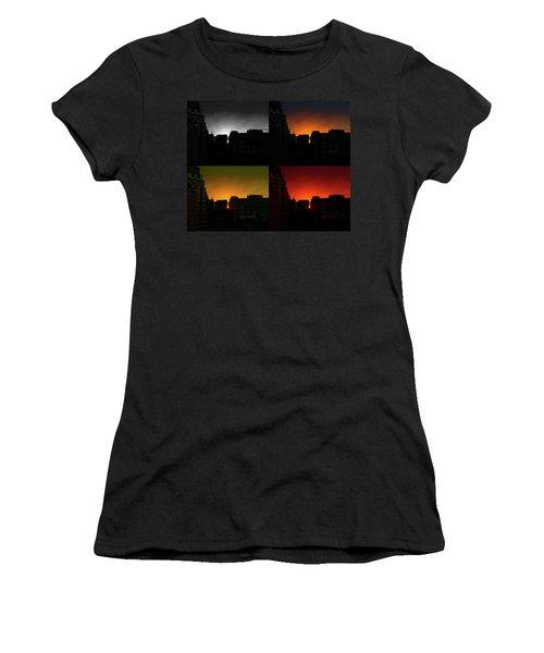 Cityscape Sunset Women's T-Shirt (Athletic Fit)