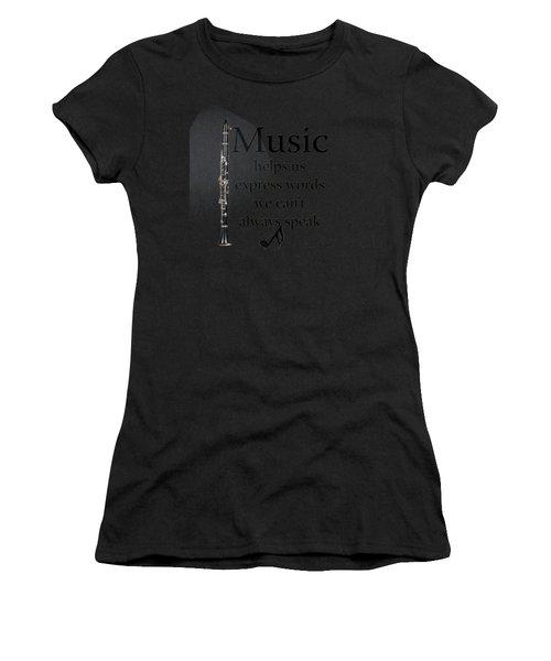 Clarinet Music Expresses Words Women's T-Shirt