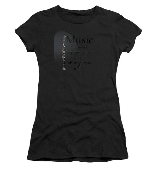Clarinet Music Expresses Words Women's T-Shirt (Athletic Fit)