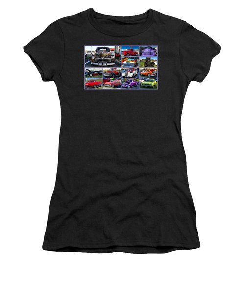 Women's T-Shirt (Athletic Fit) featuring the photograph Classic Cars by Robert L Jackson