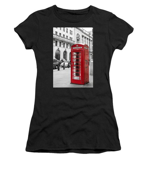 Red Telephone Box In London England Women's T-Shirt