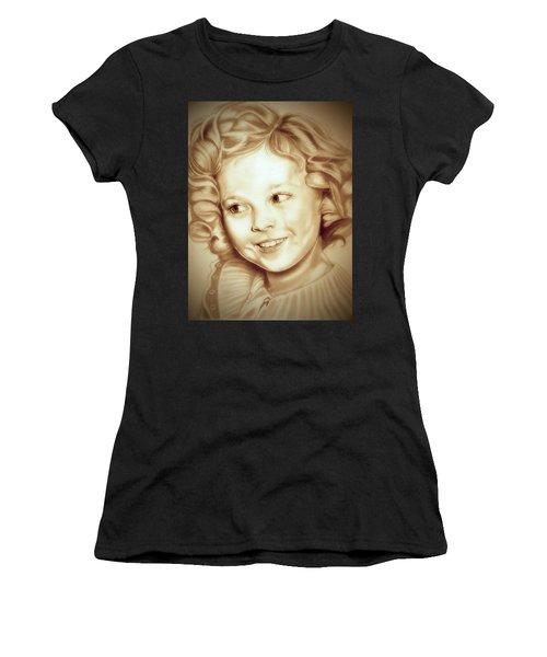 Classic Shirley Temple Women's T-Shirt (Junior Cut)