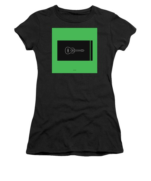 Classical Guitar In Green Women's T-Shirt (Athletic Fit)