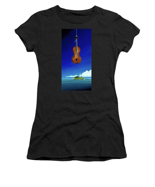 Classical Seascape Women's T-Shirt (Athletic Fit)