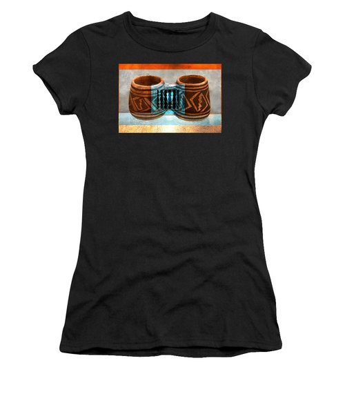 Women's T-Shirt (Junior Cut) featuring the digital art Classsic Designs Of The Southwest by David Lee Thompson