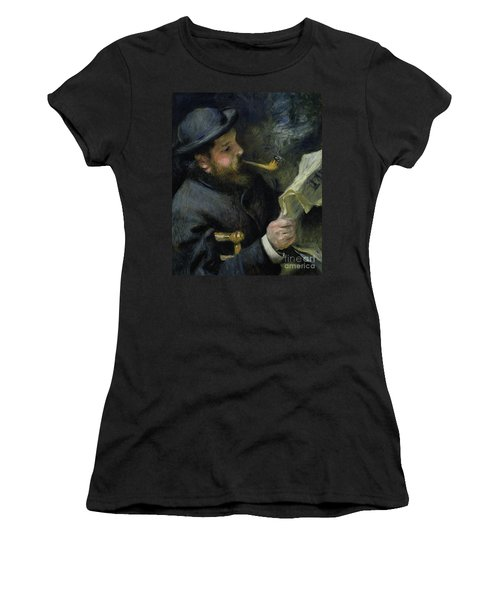 Claude Monet Reading A Newspaper Women's T-Shirt