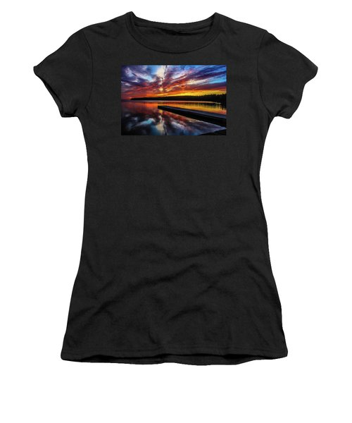 Clear Lake At Sunset. Riding Mountain National Park, Manitoba, Canada. Women's T-Shirt