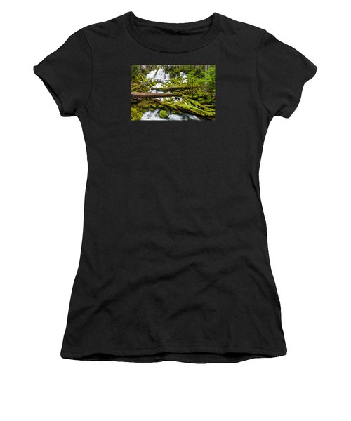 Clearwater Falls And Rapids Women's T-Shirt (Junior Cut) by Greg Nyquist