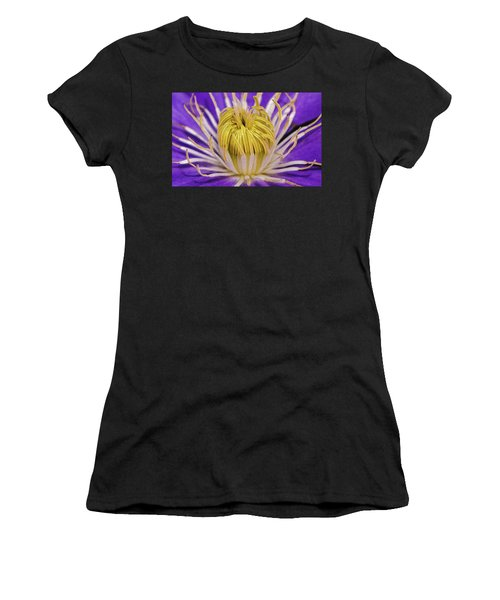 Clematis Macro Women's T-Shirt (Athletic Fit)