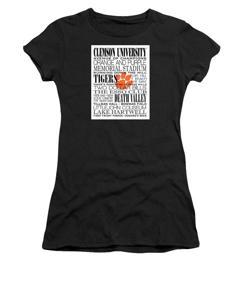 Clemson University Subway Art Women's T-Shirt (Athletic Fit)
