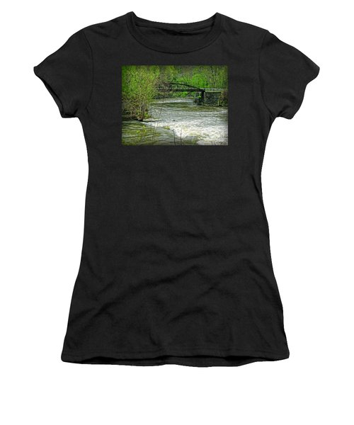 Cleveland Metropark Bridge Women's T-Shirt (Athletic Fit)