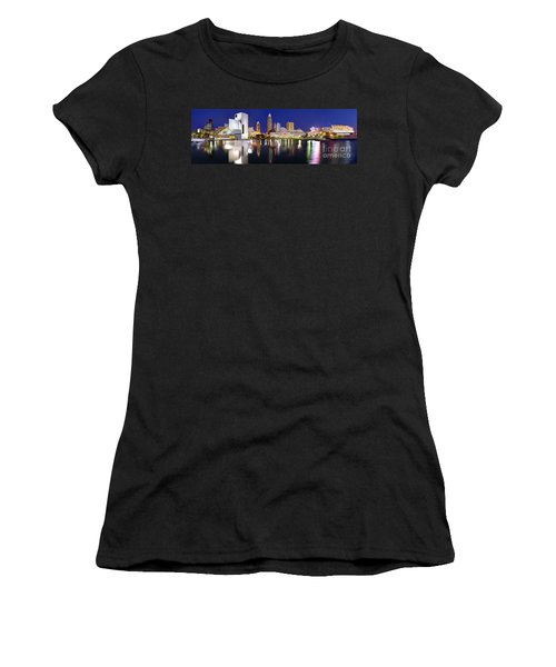 Cleveland Skyline At Dusk Women's T-Shirt (Athletic Fit)