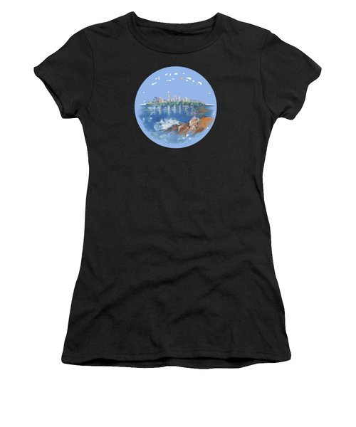 Cleveland Skyline Plate Women's T-Shirt (Athletic Fit)