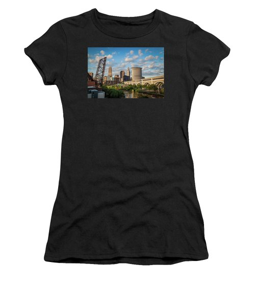 Cleveland Summer Skyline  Women's T-Shirt (Athletic Fit)