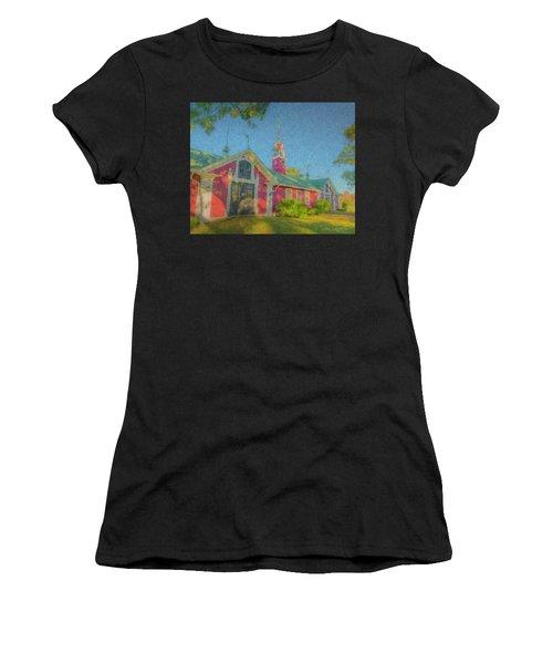 David Ames Clock Farm Women's T-Shirt (Athletic Fit)