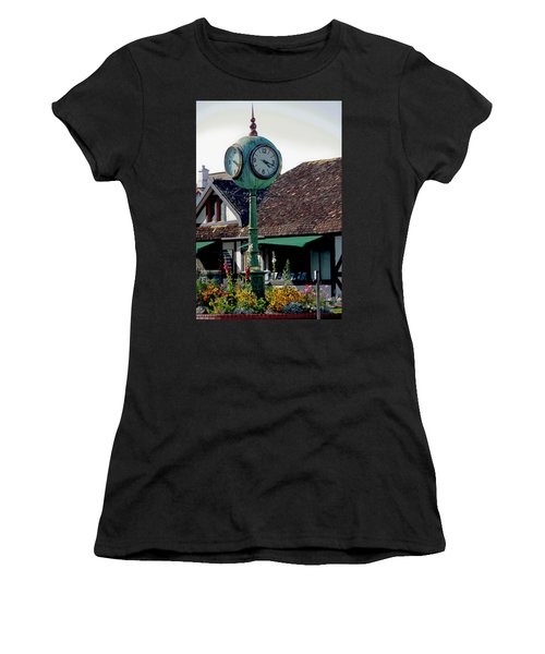 Clock Of Solvang Women's T-Shirt (Athletic Fit)
