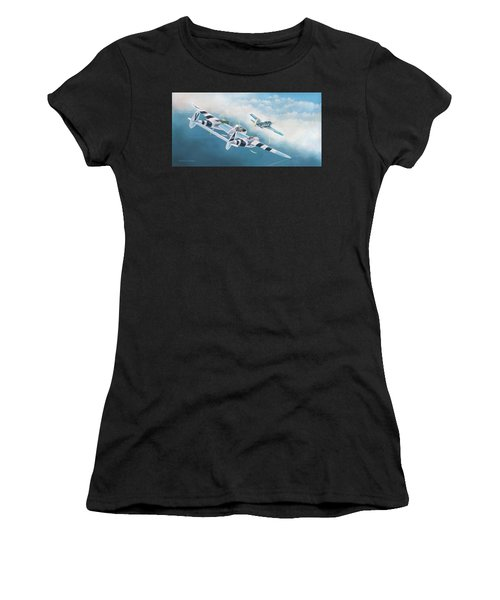 Close Encounter With A Focke-wulf Women's T-Shirt (Athletic Fit)