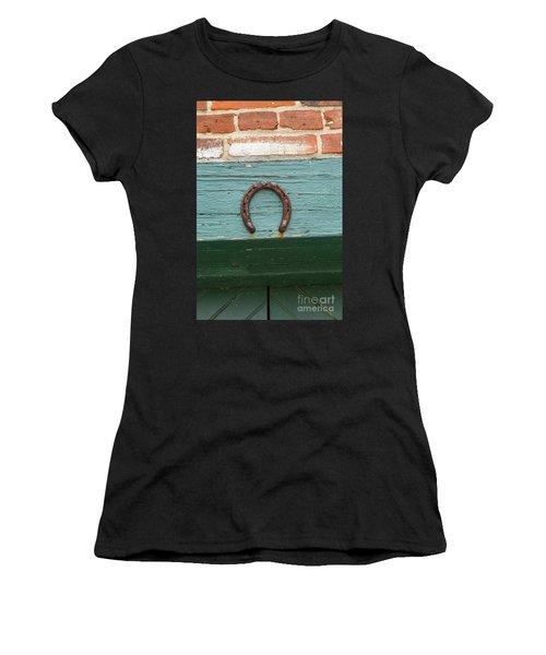 Close Up Of Rusty Horseshoe Women's T-Shirt
