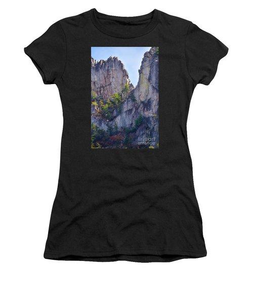 Close-up Of Seneca Rocks Top Edge Women's T-Shirt