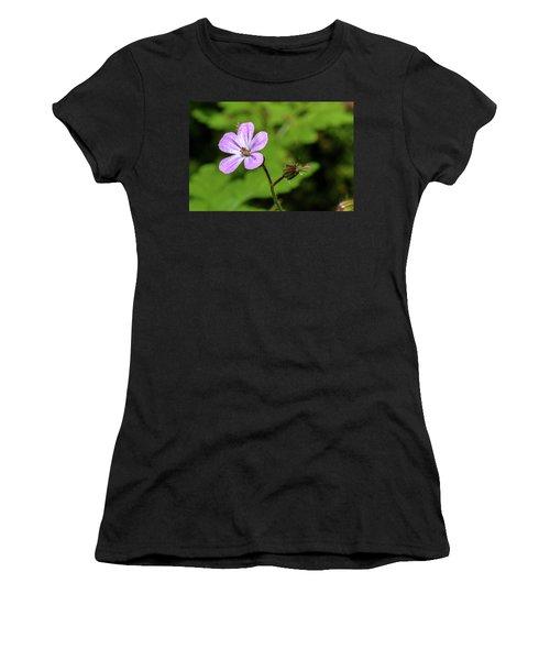 Close Up Of Shining Cranesbill A Women's T-Shirt