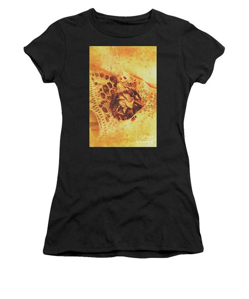 Closeup Of Wilted Daffodil On Fabric Women's T-Shirt