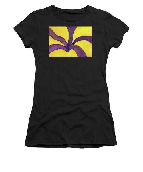 Closeup Of Yellow Rose Women's T-Shirt (Athletic Fit)