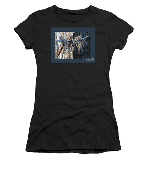 Clothespins Women's T-Shirt (Athletic Fit)