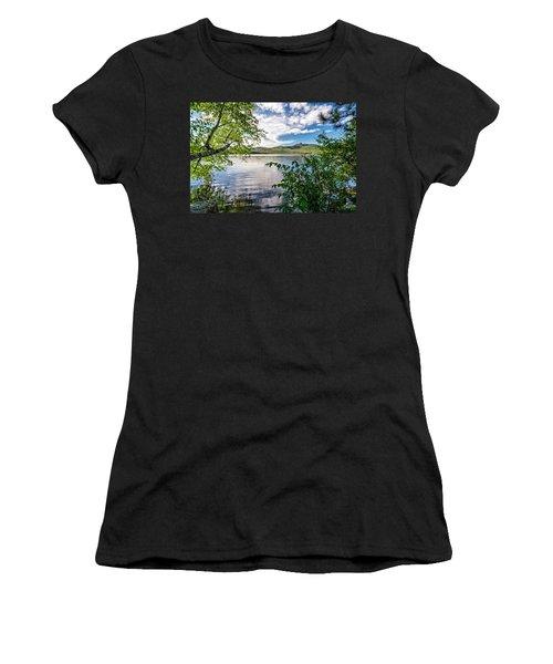 Women's T-Shirt featuring the photograph Cloud Swirl Mt. Chocorua Nh by Michael Hubley