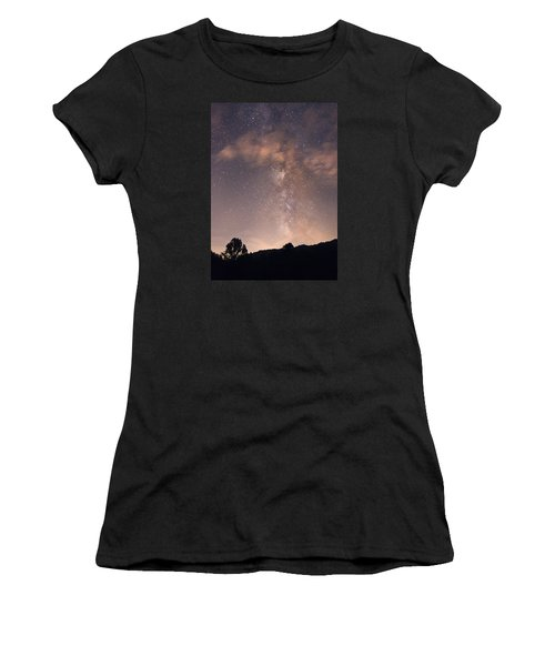 Women's T-Shirt (Junior Cut) featuring the photograph Clouds And Milky Way by Wanda Krack
