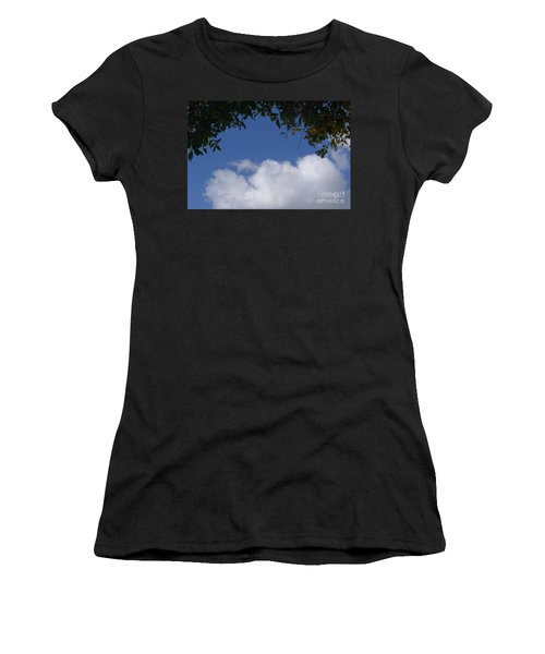 Clouds Framed By Tree Women's T-Shirt (Athletic Fit)