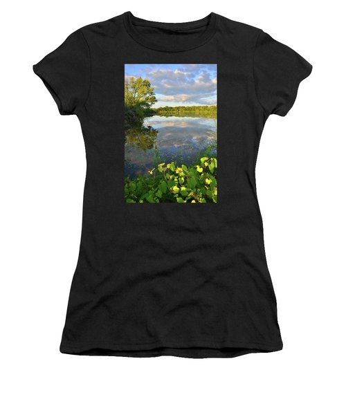 Clouds Mirrored In Snug Harbor Women's T-Shirt