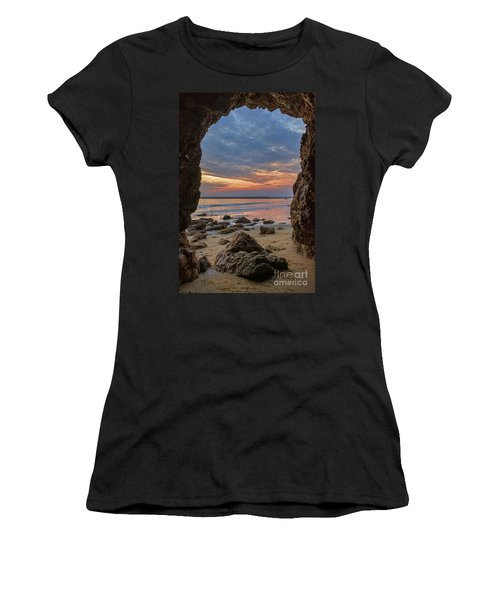 Cloudy Sunset At Low Tide Women's T-Shirt (Athletic Fit)
