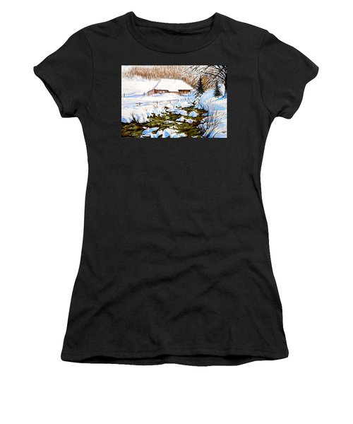 Clubhouse In Winter Women's T-Shirt